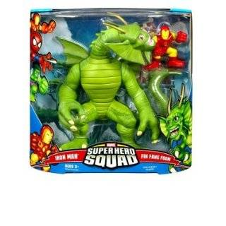 Marvel Superhero Squad Mega Series 3  Fin Fang Foom & Iron Man Action