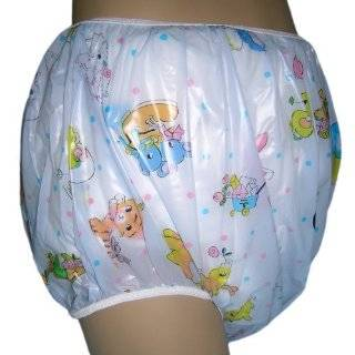 Baby Pants Honey Bear Print Adult Pullon Plastic Pants   Large Baby