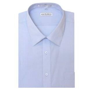 Mens Light Blue Dress Shirt with Convertible Cuffs