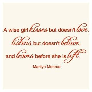A Wise Girl Marilyn Monroe Quote Vinyl Wall Decal Sticker