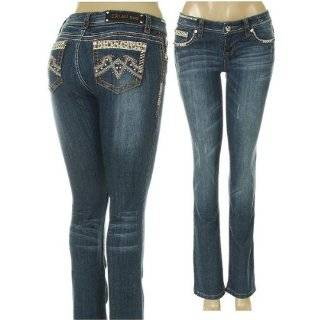 Idol Jeans with Rhinestone & Distress Details by LA IDOL Cheetah