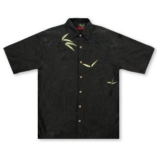 Bamboo Cay Bamboo Jungle   Black Tropical Hawaiian Aloha Shirt