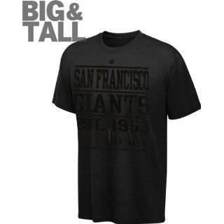 San Francisco Giants Big & Tall Black Majestic Established Tonal T
