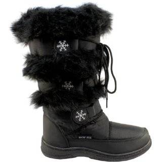 Womens New Tall Winter Snow Boots Waterproof Fur Lined