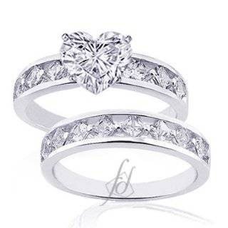 Ct Heart Shaped Diamond Wedding Rings Set SI2 F EGL