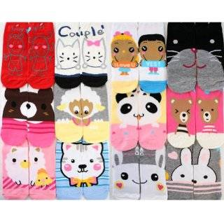 Bell Socks Womens 6 Pack Neon Bows & Hearts No Show Socks Clothing