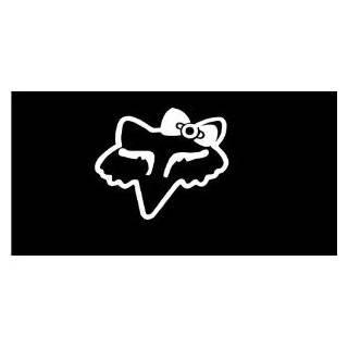Fox racing head logo with bow girls 6 Vinyl Decal Window