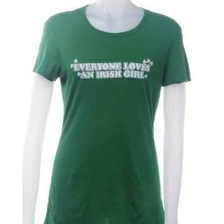 Girl Ladies T Shirt   Medium Everyone Loves An Irish Girl Ladies T