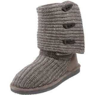 Vegan Boots (6, Tan) Brown Grey Tan Sweater Suede Winter Vegan Boots