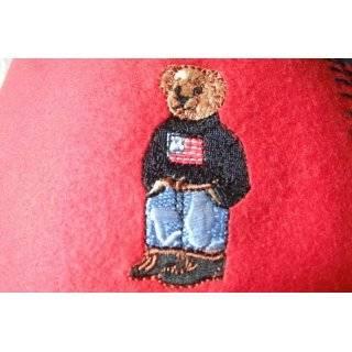 Ralph Lauren Polo Fleece Throw Blanket Teddy Bear Camel 54