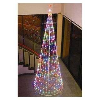 Christmas Tree W Star, 61397, Multi color LED Outdoor