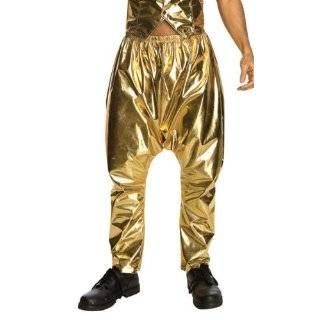 Rubies Retro 80s MC Rapper Costume Adult Gold Hammer Pants