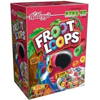 Club Pack Kelloggs Froot Loops Cereal Two Bag Value Box 43.6 oz