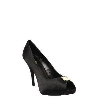 HELLO KITTY Luisa Satin Hearts Peep Toe Womens Shoes