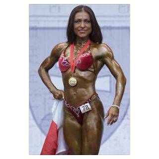 2009 European Womens Bodybuilding & Fitness Champ Poster
