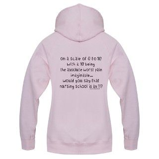 Nursing School Pain Scale II Zip Hoodie by studiogumbo