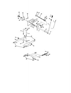 917275284 Craftsman Garden tractor   Chassis and enclosures (66 parts