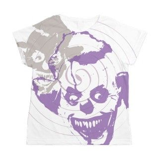 Apparel Gifts > Apparel T shirts > Evil Clown Womens All Over Print T