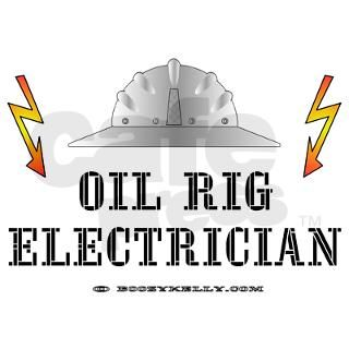 Oil Rig Electrician Rectangle Sticker by boozykelly