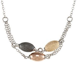 La Preciosa Sterling Silver Multi chain Necklace