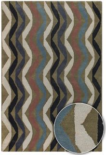 Hand tufted Contemporary Arte Wool Rug (5 x 8)