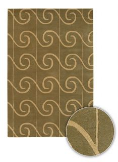 Hand tufted Contemporary Green Adora Rug (8 Round)