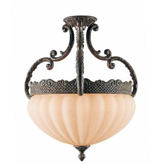 Sultan Bronze Oro 6 light Semi flush Ceiling Lamp