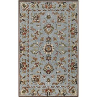 Hand tufted Ariel Blue Wool Rug (26 x 8)