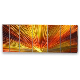 Ash Carl Peace 7 panel Abstract Metal Wall Art