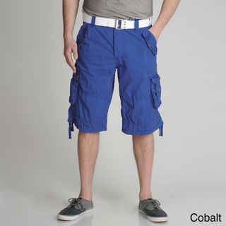 XRAY Jeans Mens Belted Cotton Cargo Shorts