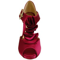 Liliana by Adi Womens Narrow Width Ruffle Peep toe Platforms