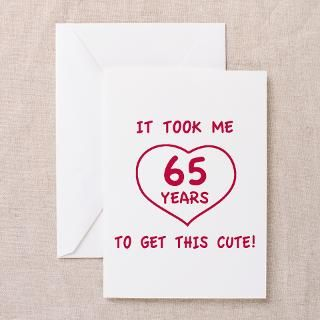 65Th Birthday Greeting Cards  65Th Birthday Cards  Greeting Card