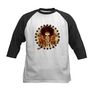 Skull Headdress II Kids Baseball Jersey