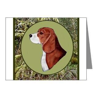 Beagle with hunting background : Wing It Designs Animal Art