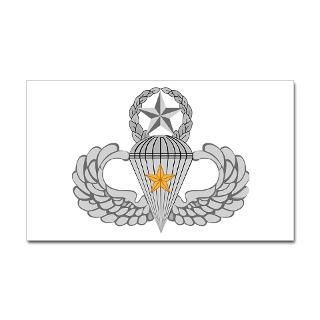 Five Combat Jump Wings Sticker (Rectangle) for