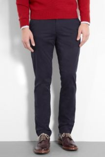 Navy Stretch Cotton D0 Slim Chinos by Dockers   Navy   Buy Trousers Online