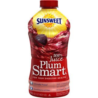 Sunsweet PlumSmart Plum Juice Extra with Fiber   1 Bottle (48 fl oz