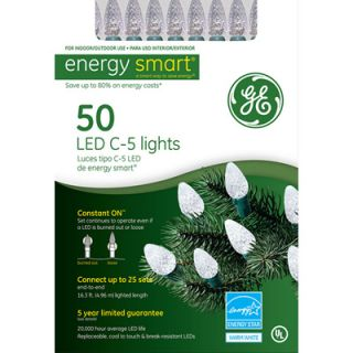 GE LED C5 Crystal Light Set   50 White Lights