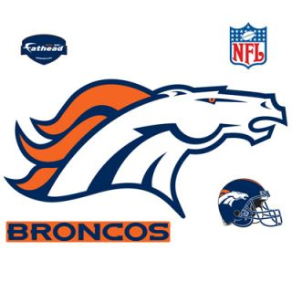 Fathead Denver Broncos Logo Vinyl Wall Graphic