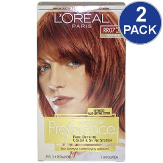 LOreal Superior Preference Fade Defying Hair Color   Red Copper #RR07