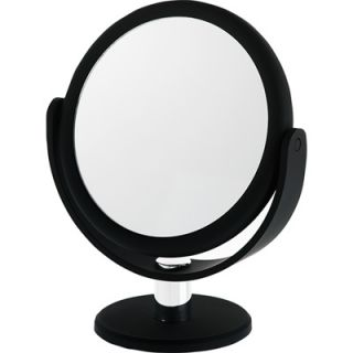 Danielle Midnight Matte Round Vanity Mirror   12x Magnification