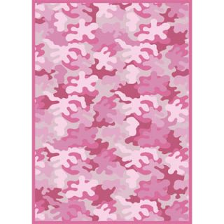 Kids Bedroom Area Rug   Camouflage Pink