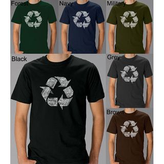 Los Angeles Pop Art Mens Recycle Symbol T shirt