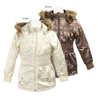 Bongo Girls Faux Fur Hooded Stadium Jacket