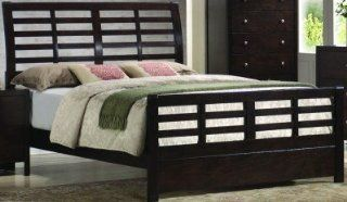 Zoe Contemporary Dark Brown Wood Queen Sleigh Bed coaster   200800Q