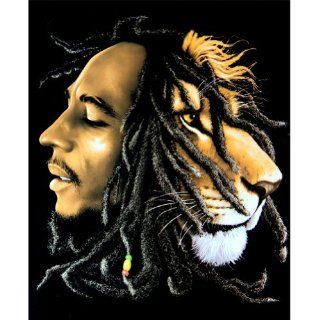 Bob Marley   Lion Fleece Blanket