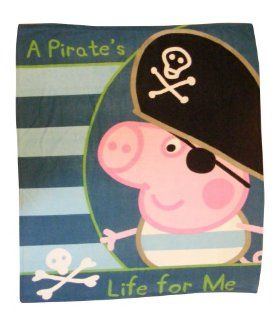 : Peppa Pig George Pirate Panel Fleece Blanket Throw: Home & Kitchen