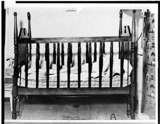 Photo: Crib of Charles A. Lindberghs baby 1935