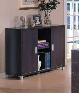 Contemporary Home Office Credenza Desk Storage Side Table