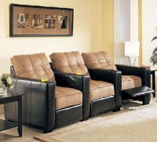 Coaster Premiere Theater Contemporary Microfiber Seating